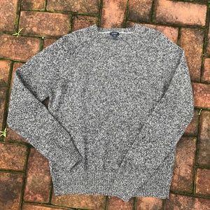 J. Crew Lambs Grey Heathered Wool Sweater